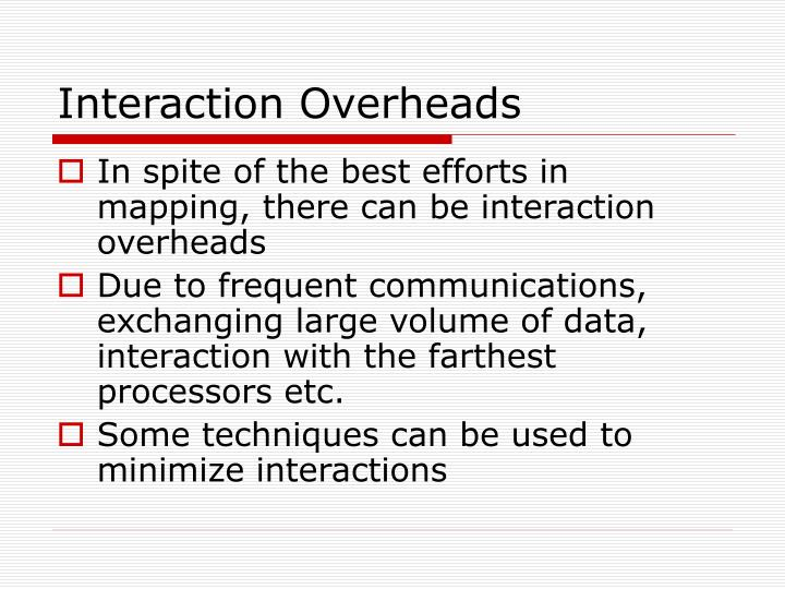 Interaction Overheads
