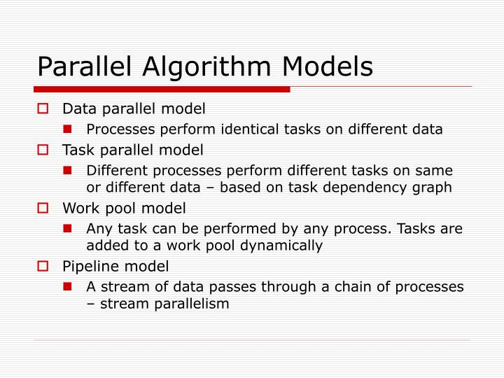 Parallel Algorithm Models