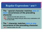 regular expressions and