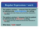 regular expressions and1