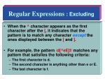 regular expressions excluding