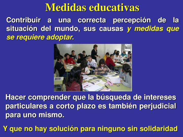 Medidas educativas