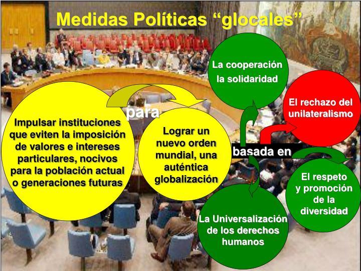 """Medidas Políticas """"glocales"""""""