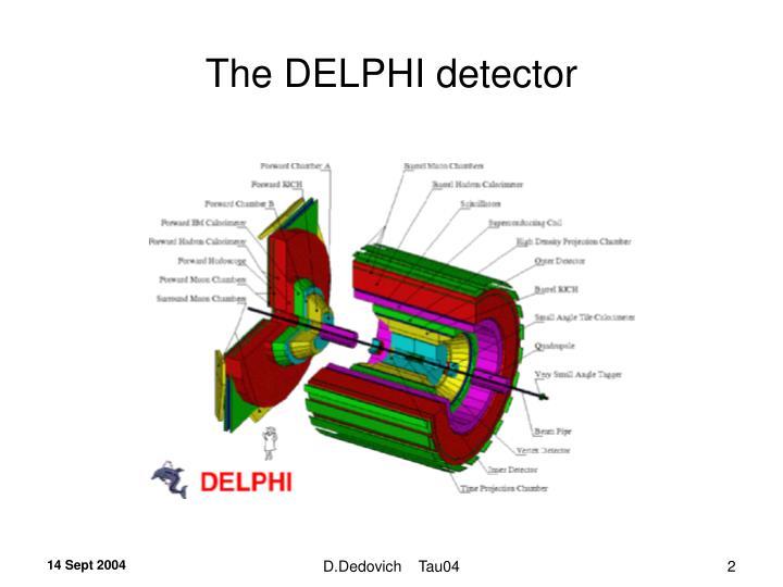 The DELPHI detector