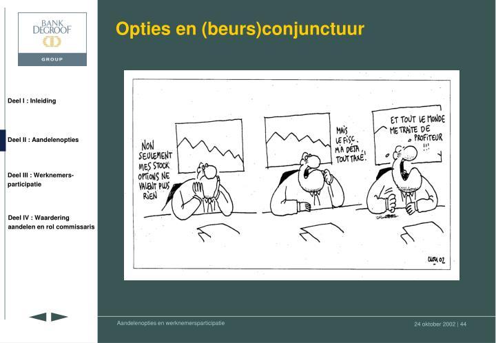 Opties en (beurs)conjunctuur