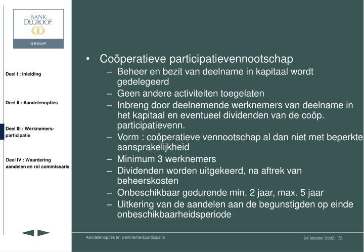 Coöperatieve participatievennootschap