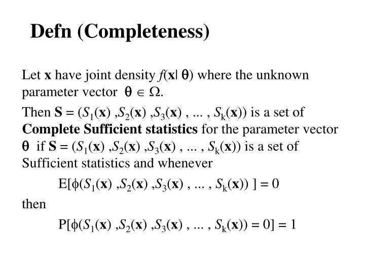 Defn (Completeness)