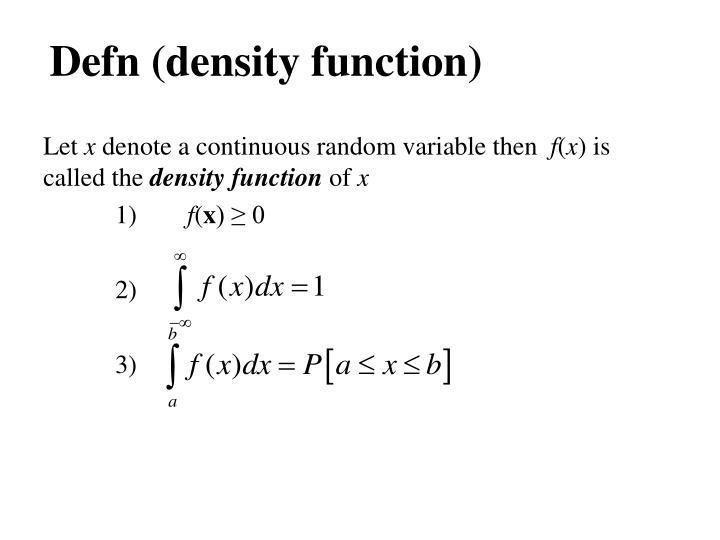 Defn (density function)
