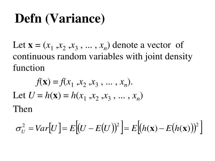 Defn (Variance)