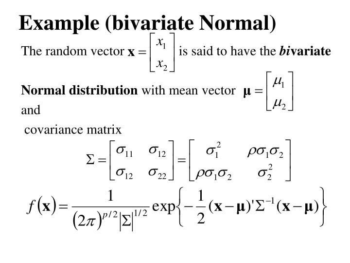 Example (bivariate Normal)
