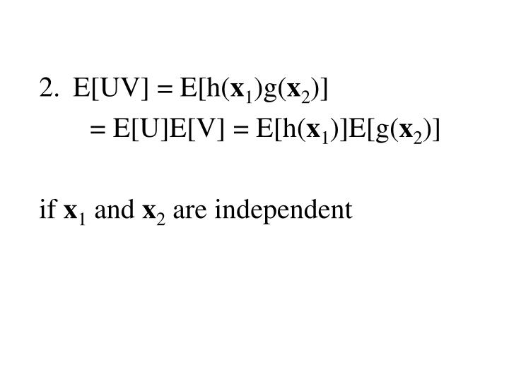 E[UV] = E[h(