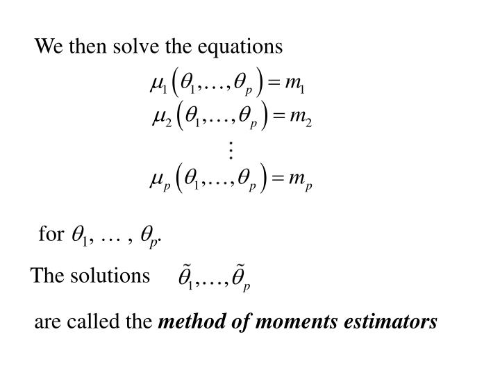 We then solve the equations