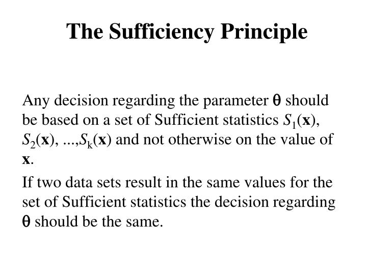 The Sufficiency Principle