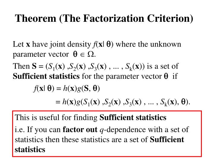 Theorem (The Factorization Criterion)