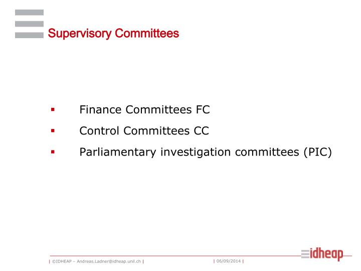 Supervisory Committees