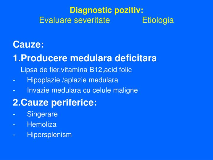 Diagnostic pozitiv: