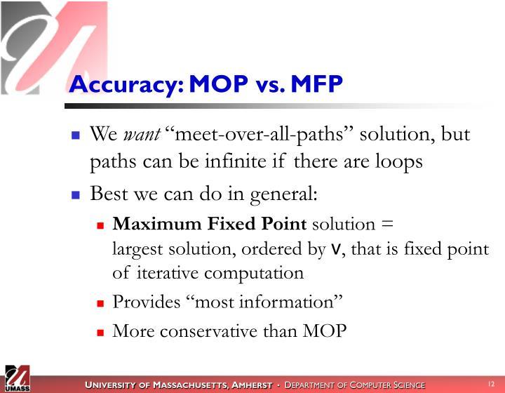 Accuracy: MOP vs. MFP