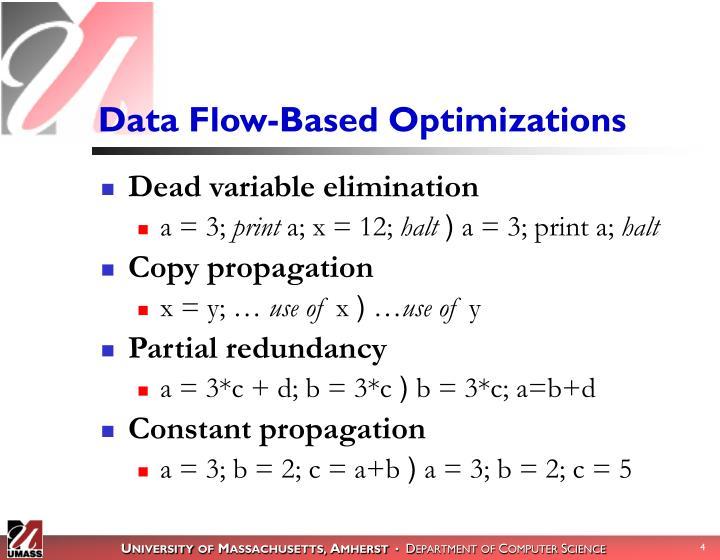 Data Flow-Based Optimizations