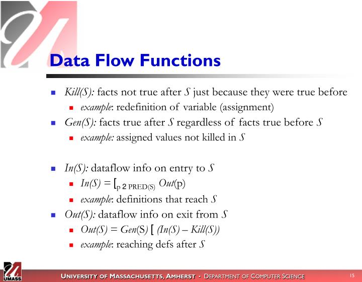 Data Flow Functions