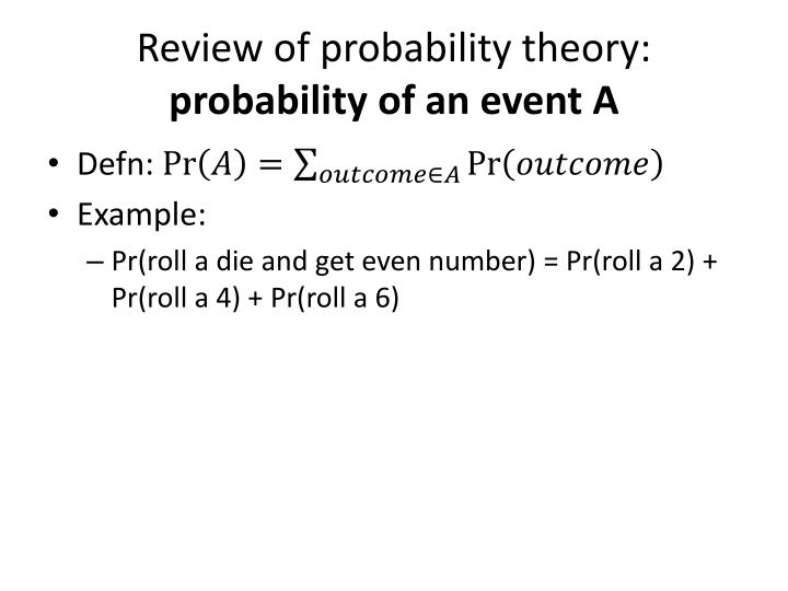 probability theory and random variable Probability theory ii  and let xbe a random variable we say that x nxin probability if for every 0, p jx  let xbe a random variable with mean and standard.