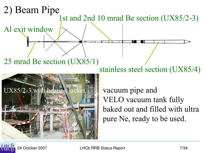 2) Beam Pipe