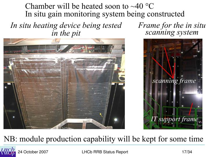 Chamber will be heated soon to ~40