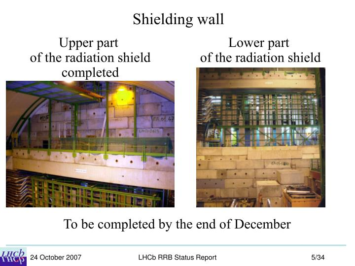 Shielding wall