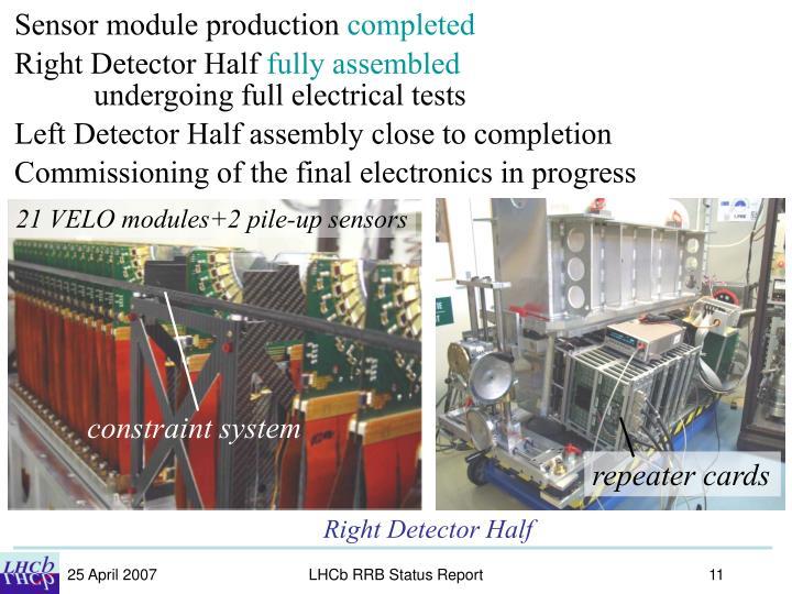 Sensor module production