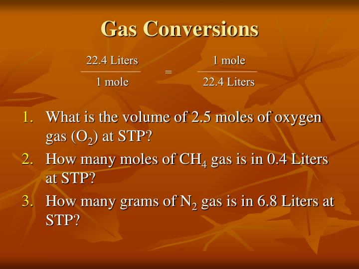 Gas Conversions