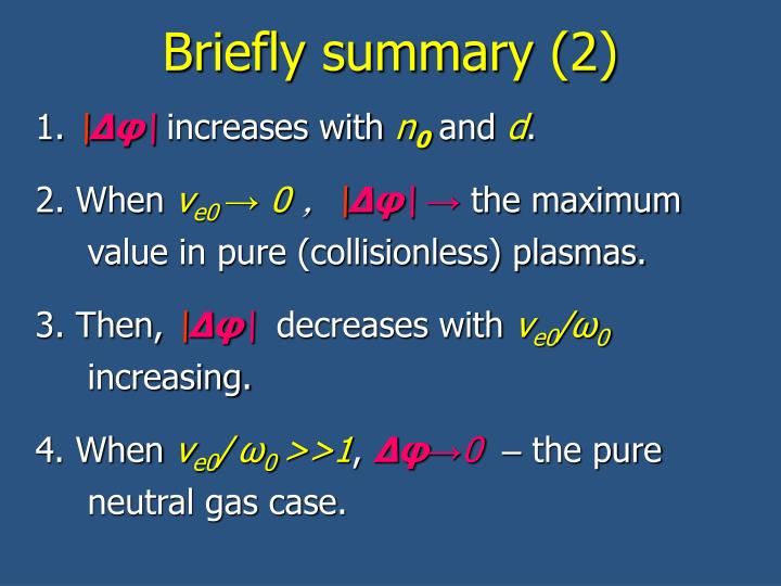 Briefly summary (2)