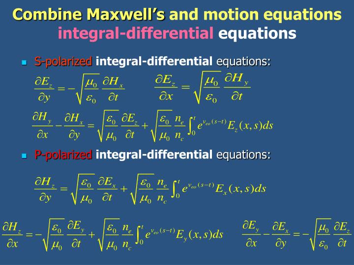 Combine Maxwell's