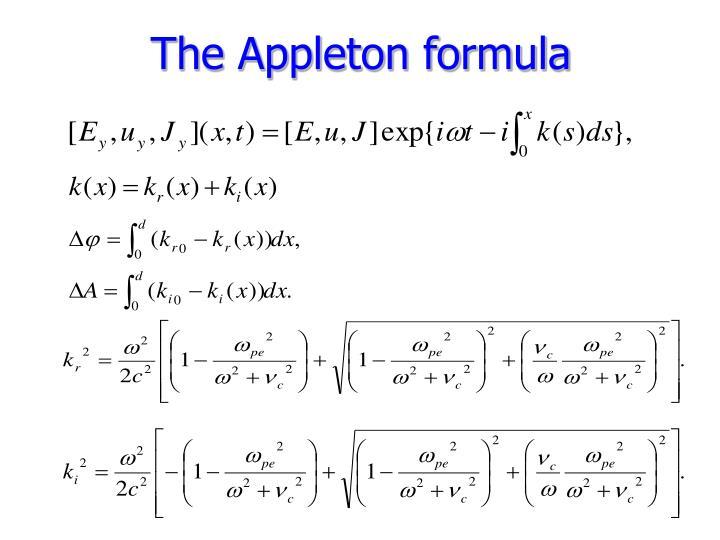The Appleton formula