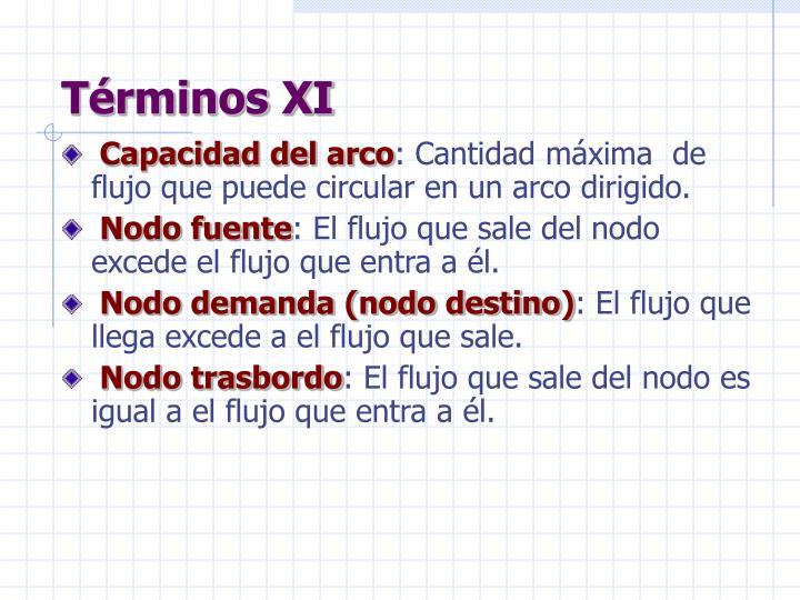 Términos XI