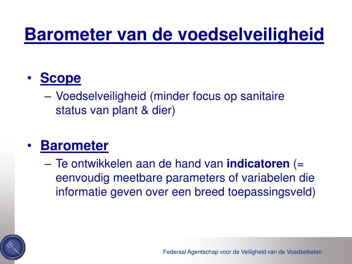 Barometer van de voedselveiligheid