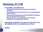 workshop 27 11 09