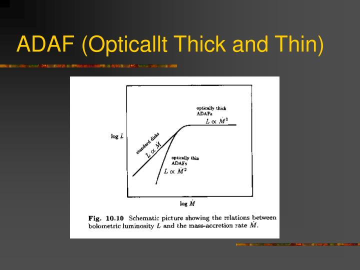 ADAF (Opticallt Thick and Thin)