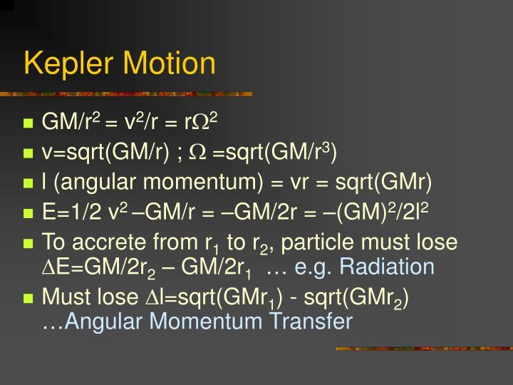 Kepler Motion