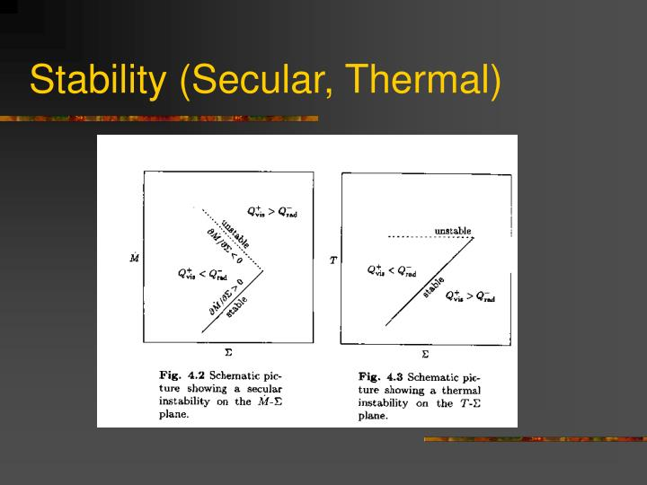 Stability (Secular, Thermal)