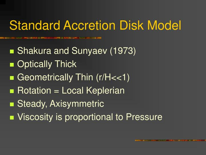Standard Accretion Disk Model