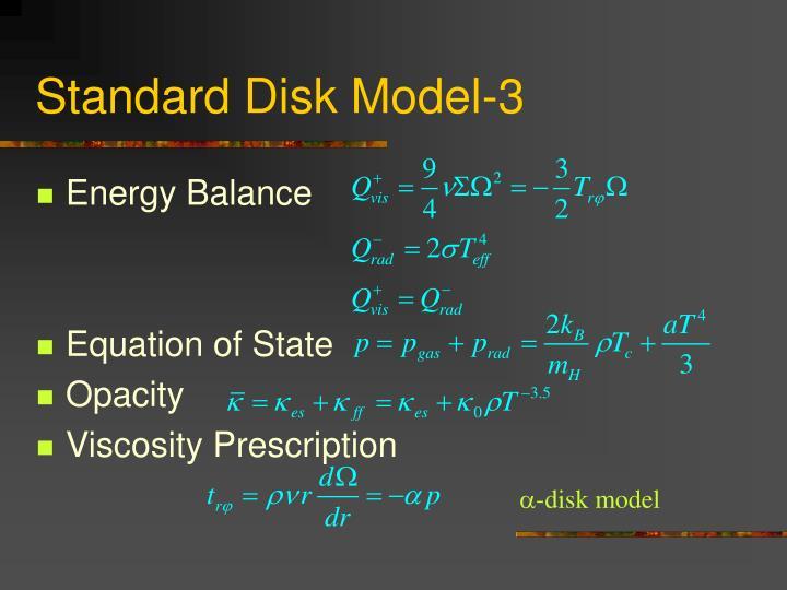 Standard Disk Model-3
