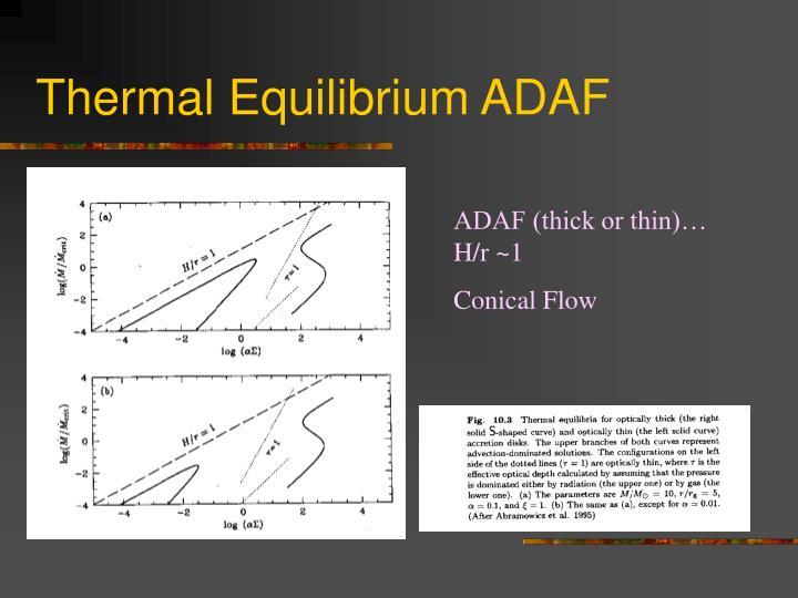 Thermal Equilibrium ADAF