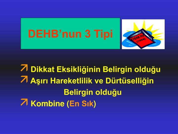 DEHB'nun 3 Tipi