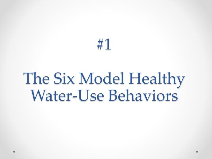1 the six model healthy water use behaviors