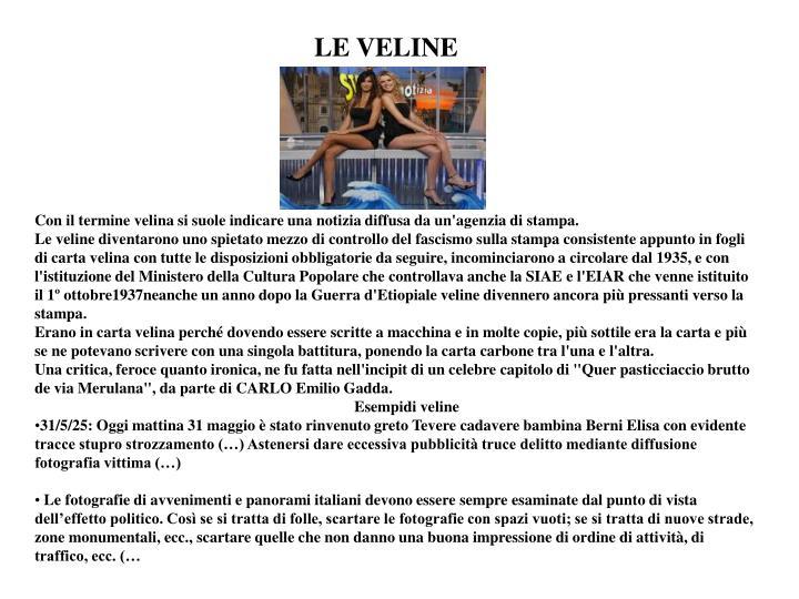 LE VELINE