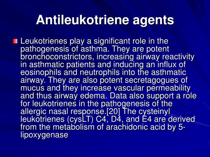 Antileukotriene agents
