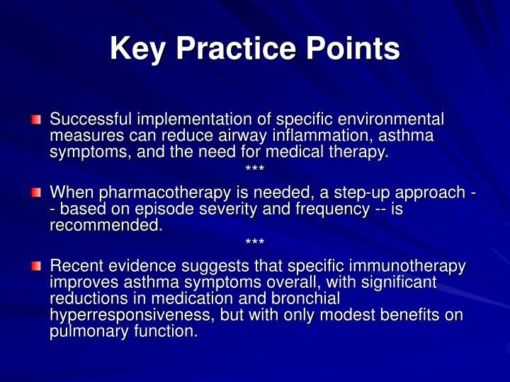 Key Practice Points
