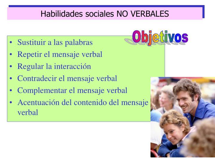 Habilidades sociales NO VERBALES