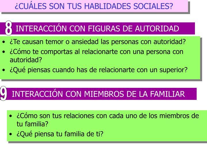 ¿CUÁLES SON TUS HABLIDADES SOCIALES?