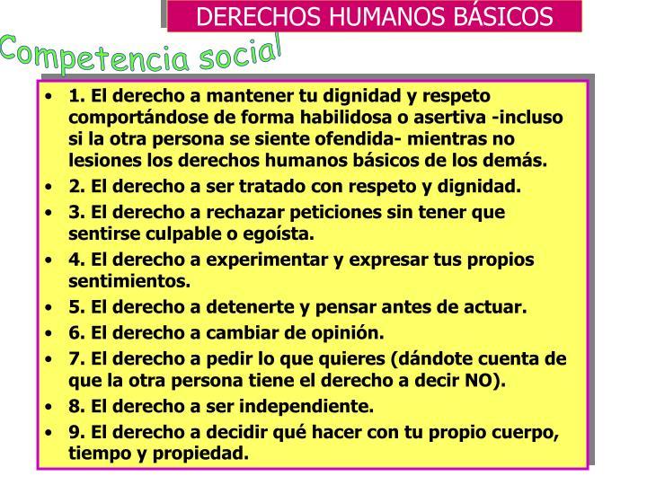 DERECHOS HUMANOS BÁSICOS