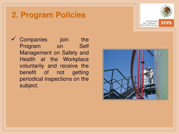 2. Program Policies